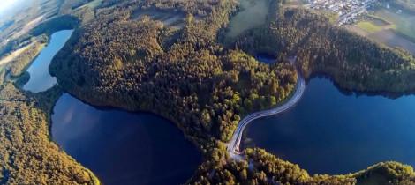 Zdjęcia wsi Sulęczyno z lotu ptaka